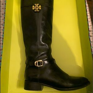Tory Burch Eloise riding boots. Black sz 8.5